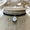 Thumbnail: Suede Rainbow Titanium Geode Tie Choker Necklace