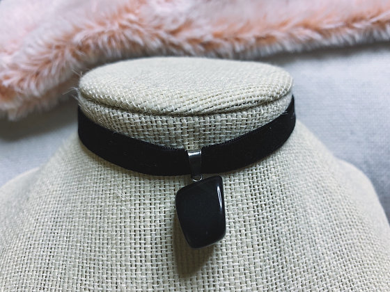 Thick Choker Crystal Necklace