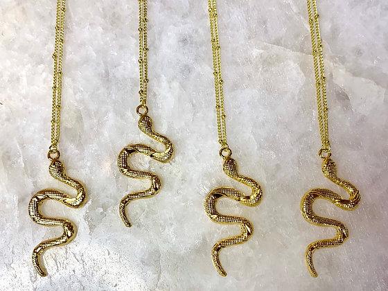 Divine Goddess Snake Necklace
