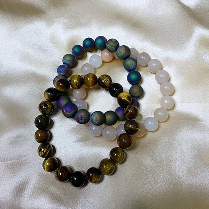 10mm Crystal Beaded Bracelets