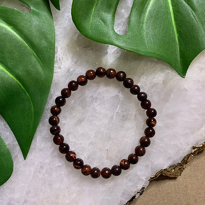 Red Tiger Eye Beaded Bracelet