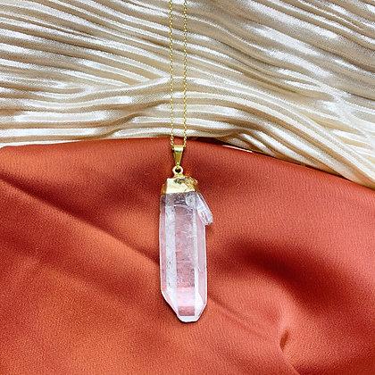 Clear Quartz Gold Vermeil Necklace