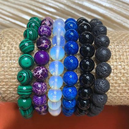 8mm Crystal Beaded Bracelets