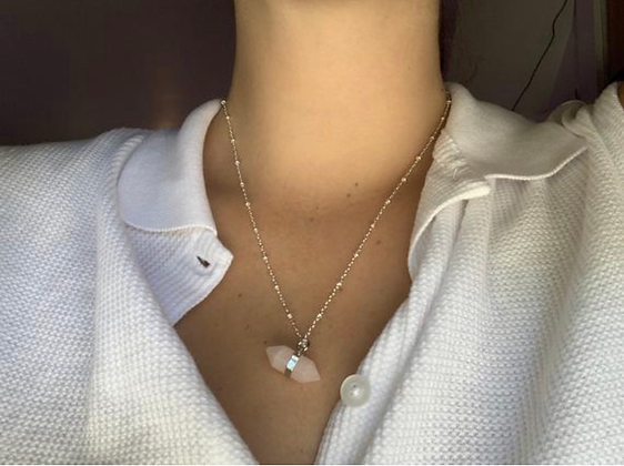 Sacred Horizontal Crystal Necklace