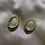 "Thumbnail: Gold Hoop ""Teardrop"" Earrings"