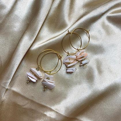 White Puka Shell Earrings