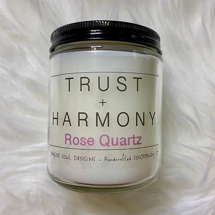 Trust and Harmony - Rose Quartz Candle
