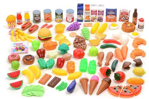 Kangaroo Deluxe Pretend Food, 120 Piece Set