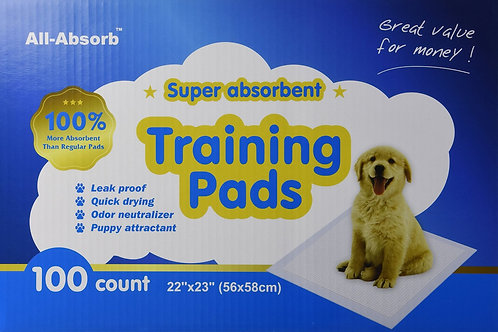 All-Absorb Training Pads 100-count, 22-inch By 23-