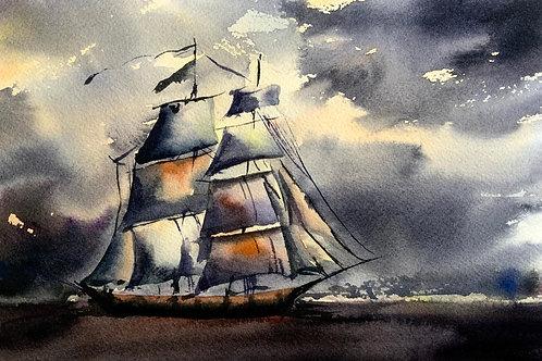 Aquarela Barco