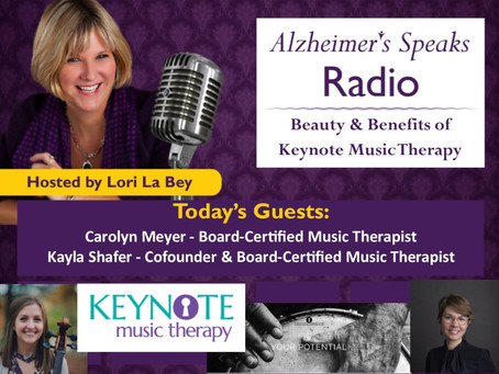 Advocacy Moment: Keynote chats with Lori La Bey of Alzheimer's Speaks Radio