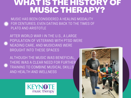 What is the history of music therapy?