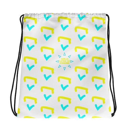 Gioielli Beach Monogram Drawstring Bag
