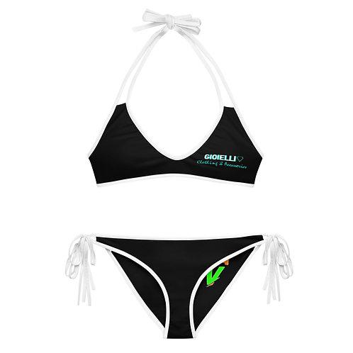 Gioielli Reversible Black Bikini