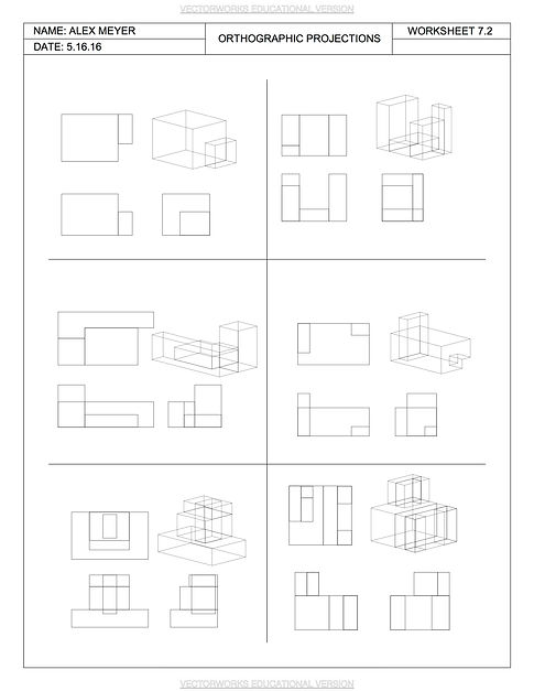 orthographic projection worksheets kidz activities. Black Bedroom Furniture Sets. Home Design Ideas