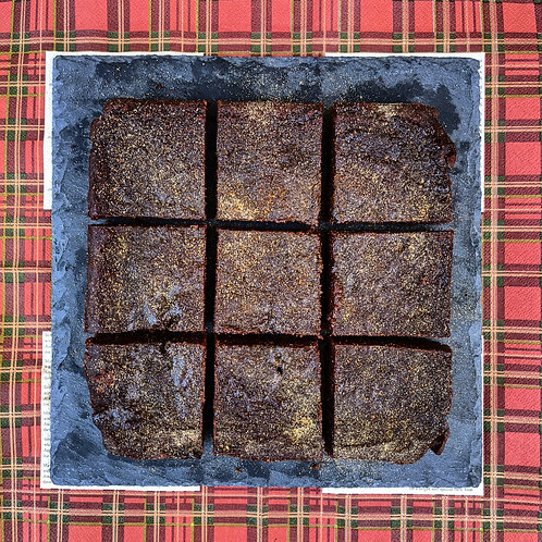 Gingerbread Caramel Chocolate Brownie x 9 squares