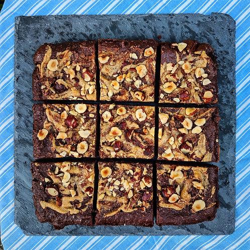 Hazelnut Butter Chocolate Brownie x 9 squares