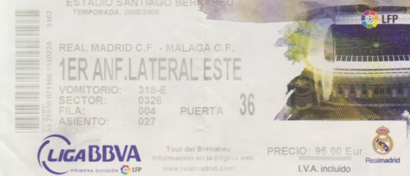 Real Madrid Ticket