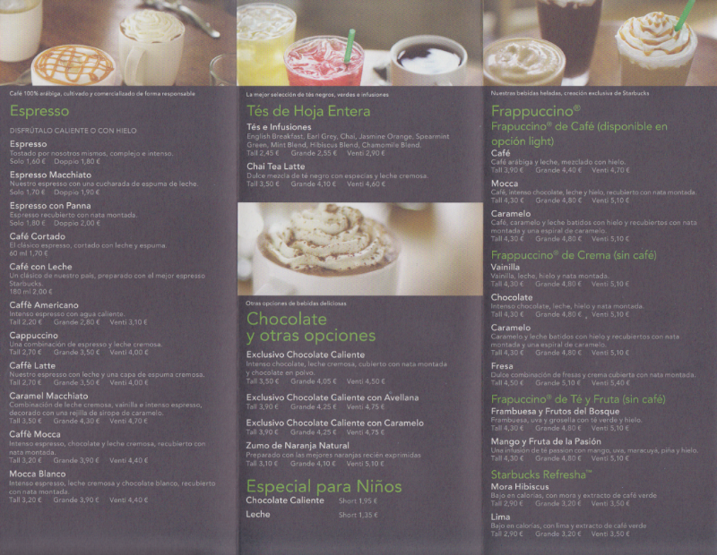 Starbucks Flyer