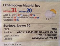 Tiempo en Madrid