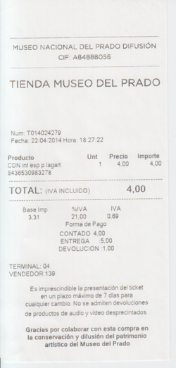 Prado factura
