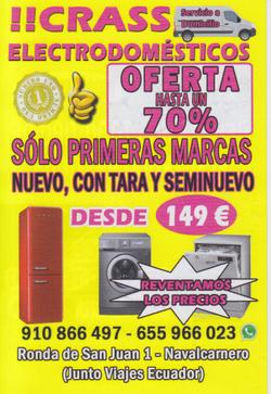 Oferta de electrodomésticos