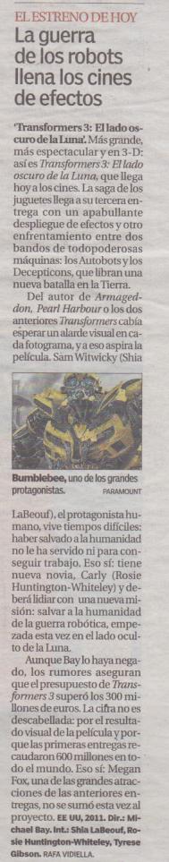 20 minutos transformers