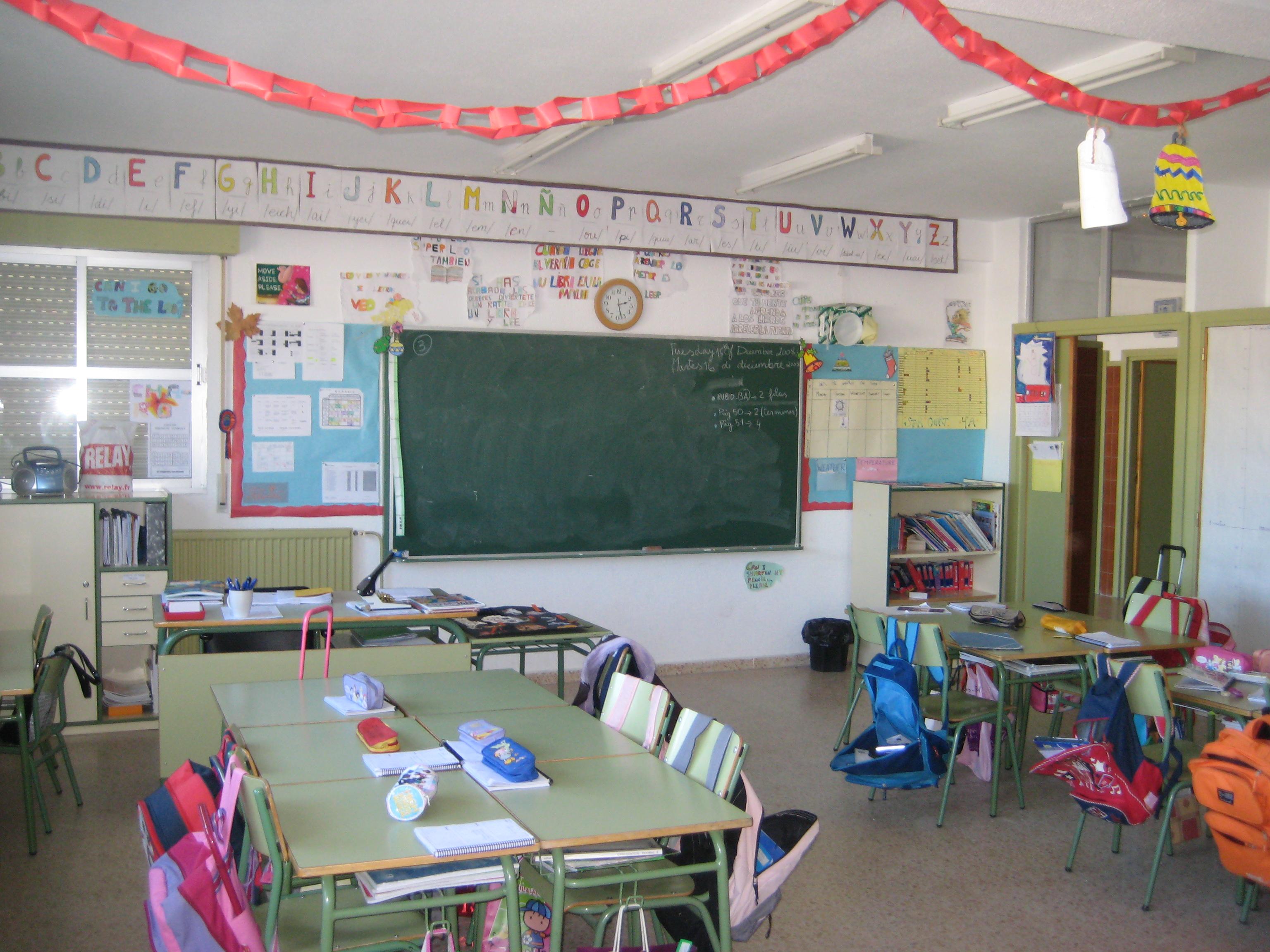 Clase de cuarto de primaria