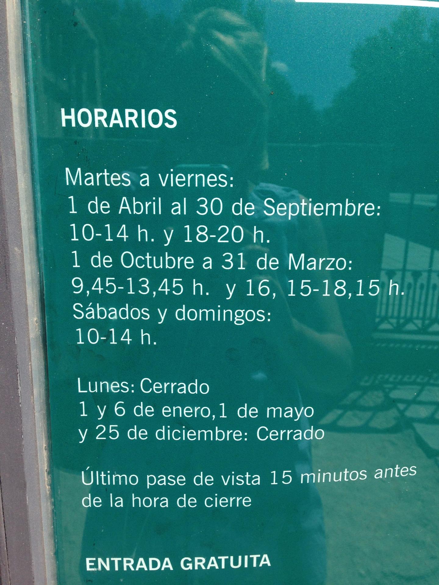 Horario de Debod