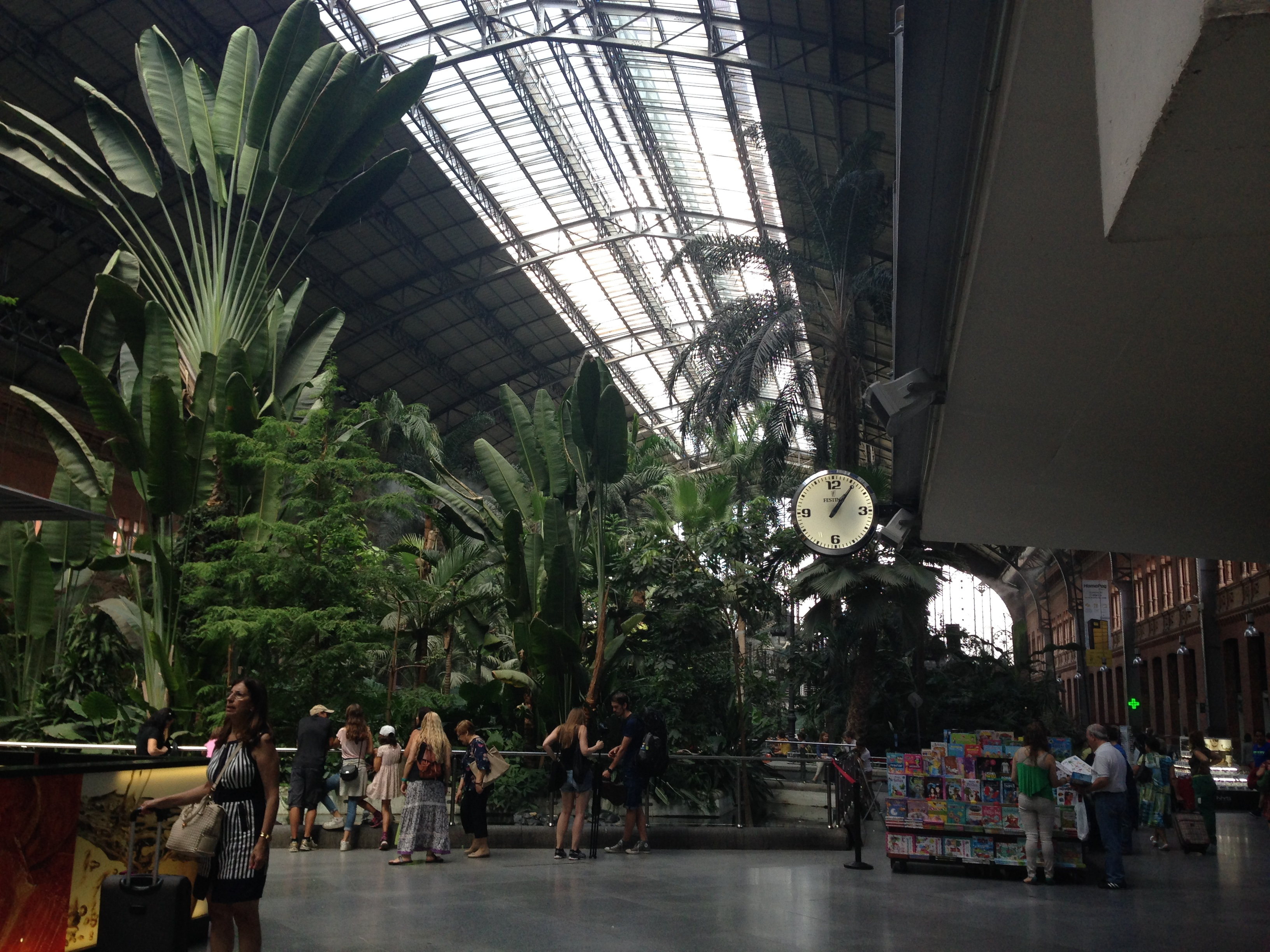 Garden inside of Atocha train statio