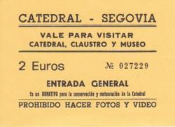 Catedral Segovia Entrada