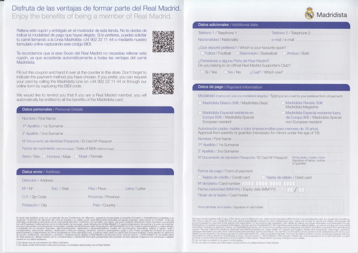 Madridista Form2 2
