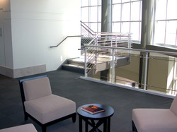 Hallway stairs and chairs with magazineMedv rt