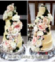 Six tier buttercream wedding cake