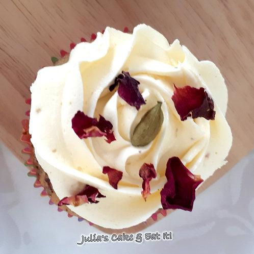 Rose & Cardamom Cupcakes - Box of 12