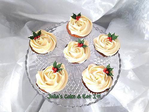 Christmas Vanilla Cupcakes - Box of 12