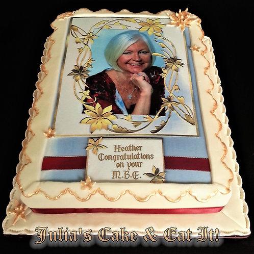 Celebration Cake with Edible Image