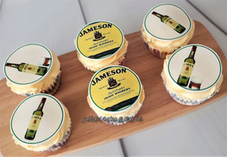 Vanilla cupcakes with edible prints