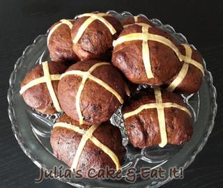 Hot Cross Cakey Buns