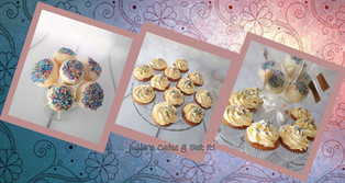 Vanilla cupcakes and matching cake pops