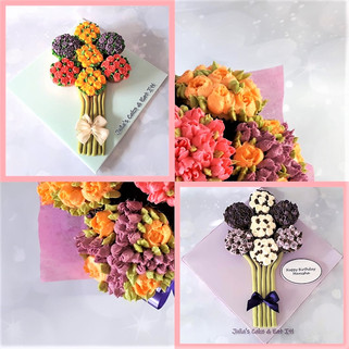 Cupcake Bouquets on Flat Boards