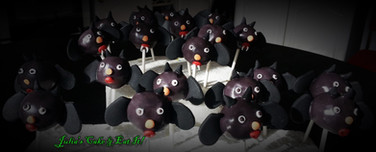 Halloween bat pops