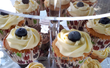 Elderflower & Blueberry Cupcakes