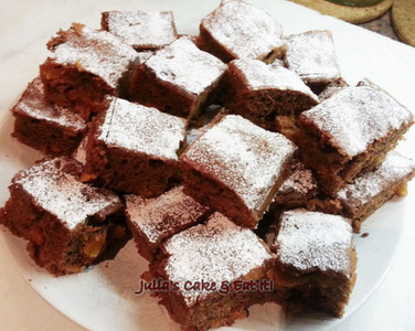 Chocolate and Apricot Brownies - 3.5 syns each