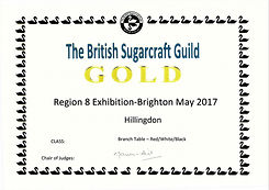 British Sugarcraft Guild Joint Collaberation Gold Award