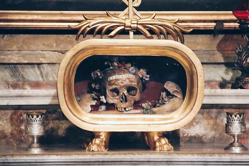 Skull of St. Valentine