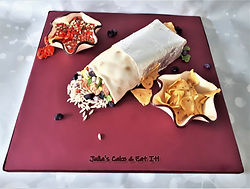 Burrito with Chips and Dip