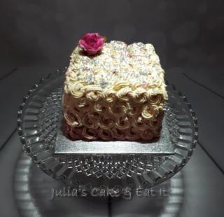 Vanilla sponge with strawberry jam and vanilla buttercream