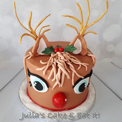 BARGAIN CHRISTMAS OFFER - Rudolph Christmas Cake