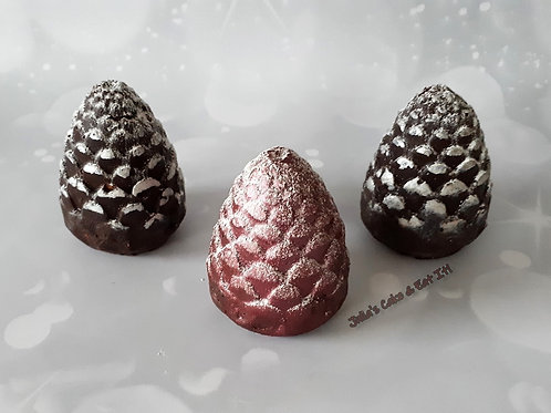 Chocolate Biscuit Cake Pine Cone - pack of 3